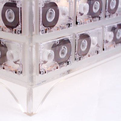 Lighting made from cassettes. Here's another example. And we've of course featured many other cassette-centric projects, browse them here.  (via Tape Lamp | Design Milk)