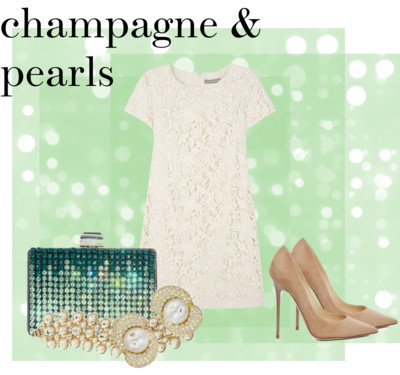 champagne &pearls von tamaramascara, high heels enthaltendJigsaw summer dress$220 - jigsaw-online.comJimmy Choo high heelsforwardforward.comLanvin sequin clutchmatchesfashion.comBanana Republic faux pearl jewelrybananarepublic.gap.com