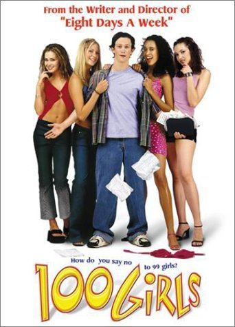 "100 Girls (2000)  This sexy, teen-comedy is about a freshman, Matthew, at college who meets his dream girl in a dorm elevator during a blackout. He never sees her face, but instantly falls in love. In the morning, the power is restored, but the ""dream girl"" has vanished. All Matthew knows is that she lives in an all-girls dorm. He sets out on a semester-long journey to find his mystery girl amongst a hundred female suspects. Could it be Wendy? Dora? Arlene? Patty? Cynthia? Or the 95 other girls, any of whom could have been in that elevator with Matthew.  Cast: Jonathan Tucker, Emmanuelle Chriqui, Katherine Heigl, Larisa Oleynik Follow this blog for the neverending list of all the teen movies ever made!"