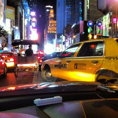 Oops! Did we shut down time square last night? #jdmchicago #jdm #wekfest #weksos #weaksause #newyork #timesquare #aficionado #taxi #cab #traffic  (Taken with Instagram at Times Square)
