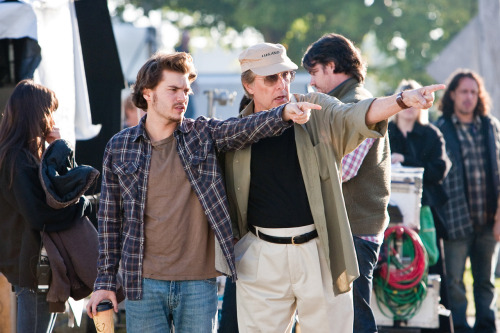 Emile Hirsch and William Friedkin on-set of Killer Joe (2011)