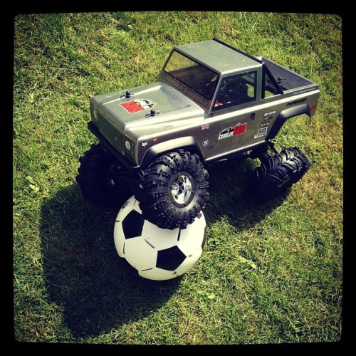 Playing footie with my Land Rover (Taken with Instagram)