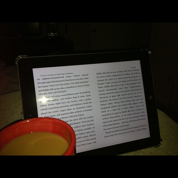 Love Sunday mornings #photos #coffee #red #ipad #apple #reading #bed (Taken with Instagram)
