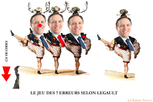 """Le jeu des 7 erreurs selon Legault""  Mes hommages! Inspirations :  http://quebec.huffingtonpost.ca/2012/08/23/tendance-sur-twitter-les-caribous-francois-legault_n_1826112.html https://www.facebook.com/photo.php?fbid=10152046031220623&set=a.10152020941650623.882671.689850622&type=1&theater"