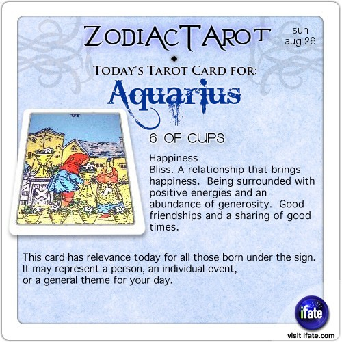 Click on ZodiacTarot! for all the zodiac tarot cards for todayClick here for a free tarot reading :)