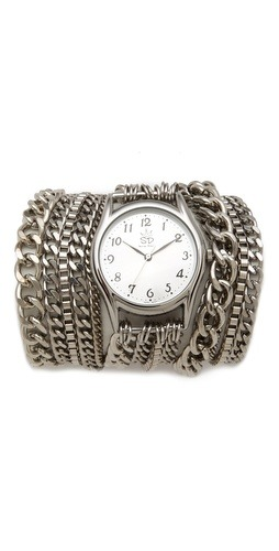 (via Sara Designs All Chain Wrap Watch | SHOPBOP)