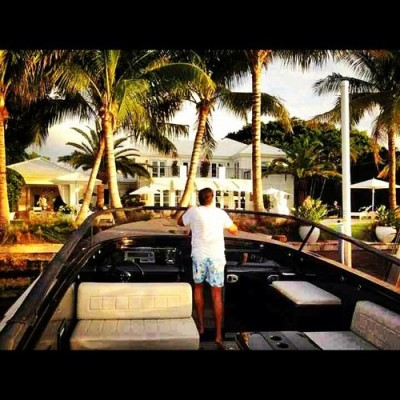 Pulling up to my house on a boat. #miami #winning #balling #getonmylevel by theballerlife