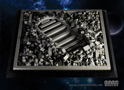 legoexpress:  Lego Astronaut Footprint by customBRICKS on Flickr.