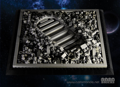 Lego Astronaut Footprint by customBRICKS on Flickr.