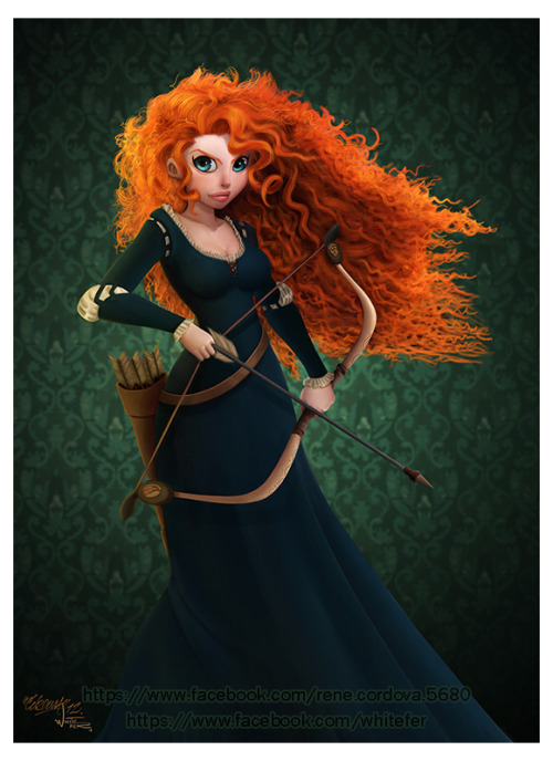becausesometimesdreamsdocometrue:  BRAVE Merida Print by renecordova.