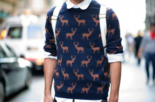 iputstylefirst:  Topman deer sweater  Want it.