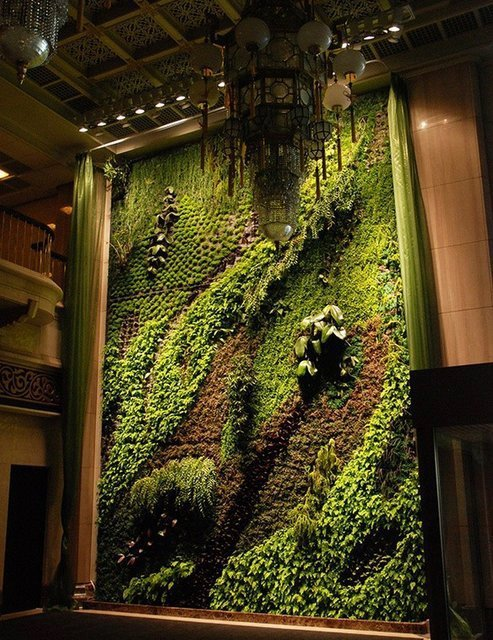 This living wall looks like a living painting.  Patrick Blanc is the man!