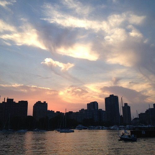 That sky. #nofilter (Taken with Instagram at Belmont Harbor)