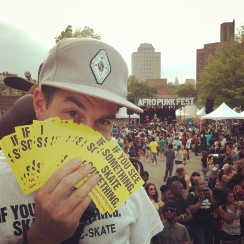 activenative:  Summertime throwback! #Skatesomthing @ Afro Punk Fest.