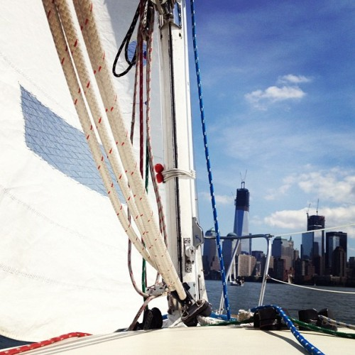 Something clicked this morning and now I'm madly in love with sailing. (Taken with Instagram)