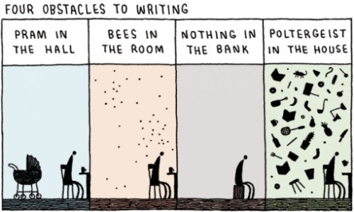 "trilltrillian:  teachingliteracy:  amandaonwriting: The Top 10 Writers Block Quotes 1. Writer's block? I've heard of this. This is when a writer cannot write, yes? Then that person isn't a writer anymore. I'm sorry, but the job is getting up in the fucking morning and writing for a living. ~Warren Ellis 2. I learned to produce whether I wanted to or not. It would be easy to say oh, I have writer's block, oh, I have to wait for my muse. I don't. Chain that muse to your desk and get the job done. ~Barbara Kingsolver 3. All writing is difficult. The most you can hope for is a day when it goes reasonably easily. Plumbers don't get plumber's block, and doctors don't get doctor's block; why should writers be the only profession that gives a special name to the difficulty of working, and then expects sympathy for it? ~Philip Pullman 4. I've often said that there's no such thing as writer's block; the problem is idea block. When I find myself frozen–whether I'm working on a brief passage in a novel or brainstorming about an entire book–it's usually because I'm trying to shoehorn an idea into the passage or story where it has no place. ~Jeffery Deaver 5. You can't think yourself out of a writing block; you have to write yourself out of a thinking block. ~John Rogers 6. There's no such thing as writer's block. That was invented by people in California who couldn't write. ~Terry Pratchett 7. I haven't had trouble with writer's block. I think it's because my process involves writing very badly. My first drafts are filled with lurching, clichéd writing, outright flailing around. Writing that doesn't have a good voice or any voice. But then there will be good moments. It seems writer's block is often a dislike of writing badly and waiting for writing better to happen. ~Jennifer Egan 8.Writer's block doesn't exist…lack of imagination does. ~Cyrese Covelli 9. Writer's Block is just an excuse by people who don't write for not writing. ~Giando Sigurani  10. Discipline allows magic. To be a writer is to be the very best of assassins. You do not sit down and write every day to force the Muse to show up. You get into the habit of writing every day so that when she shows up, you have the maximum chance of catching her, bashing her on the head, and squeezing every last drop out of that bitch. ~Lili St. Crow  ""The advice I like to give young artists, or really anybody who'll listen to me, is not to wait around for inspiration. Inspiration is for amateurs; the rest of us just show up and get to work. If you wait around for the clouds to part and a bolt of lightning to strike you in the brain, you are not going to make an awful lot of work. All the best ideas come out of the process; they come out of the work itself. Things occur to you. If you're sitting around trying to dream up a great art idea, you can sit there a long time before anything happens. But if you just get to work, something will occur to you and something else will occur to you and something else that you reject will push you in another direction. Inspiration is absolutely unnecessary and somehow deceptive. You feel like you need this great idea before you can get down to work, and I find that's almost never the case."" ~ Chuck Close"