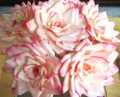 vile-grotesque:  Coffee filter roses! You can find a pretty awesome tutorial here