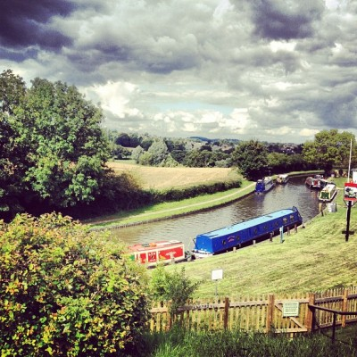 My view on the #patio right Now! #uk #summer #canal #gb #england  (Taken with Instagram at The Boat House)