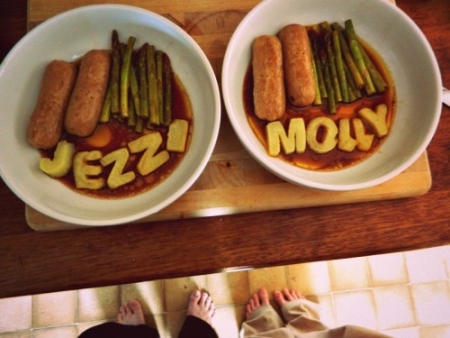 Jez made dinner the other day.