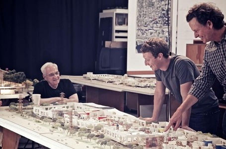 Facebook's Gehry-designed campus expansion will start next year Facebook is adding a new building to its Menlo Park campus that will house 2,800 engineers. The building is designed by internationally-renowned architect Frank Gehry, whose work includes the Walt Disney Concert Hall in Los Angeles, 8 Spruce Street in New York, and the Dancing House in Prague, Czech Republic.