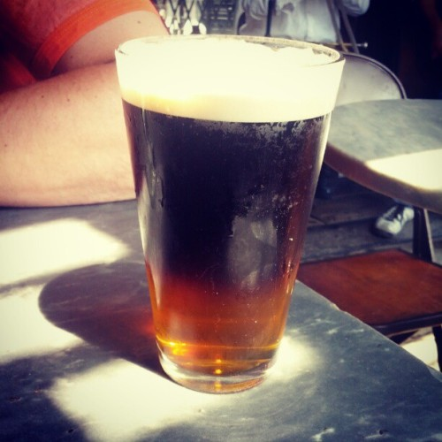 Brunch Black and Tan. Good to be back, Brooklyn.  (Taken with Instagram at Moto)