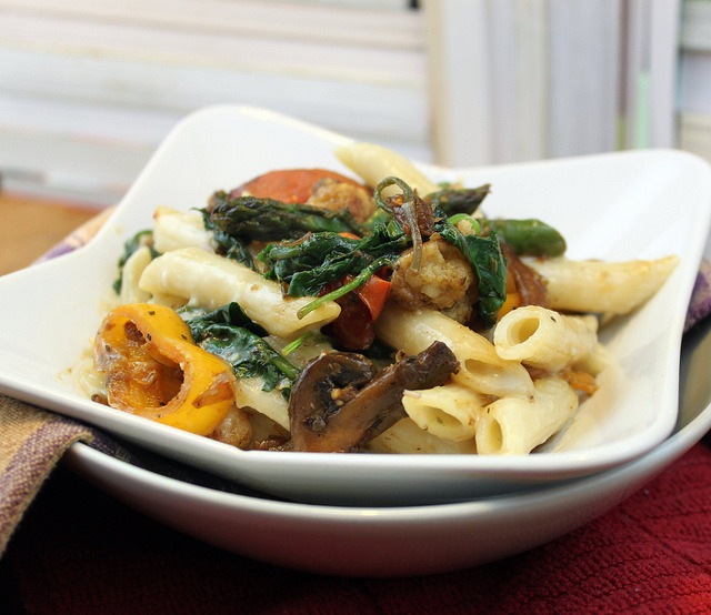 Pasta Primavera by Vegan Aide on Flickr.