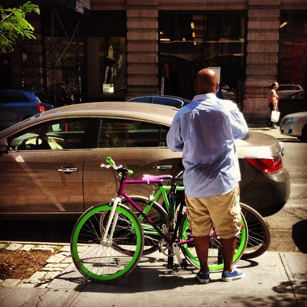 jchin:  Spotted Strada x yotel bikes!! @stradacustoms #strada #yotel (Taken with Instagram)