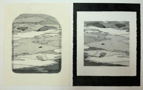 "The Pull & The Print   -   2012 China Marker and Graphite Drawings on Stonehenge  each one 16.5 x 13.5"" -finished this last weekend, but haven't had a chance to post until today"