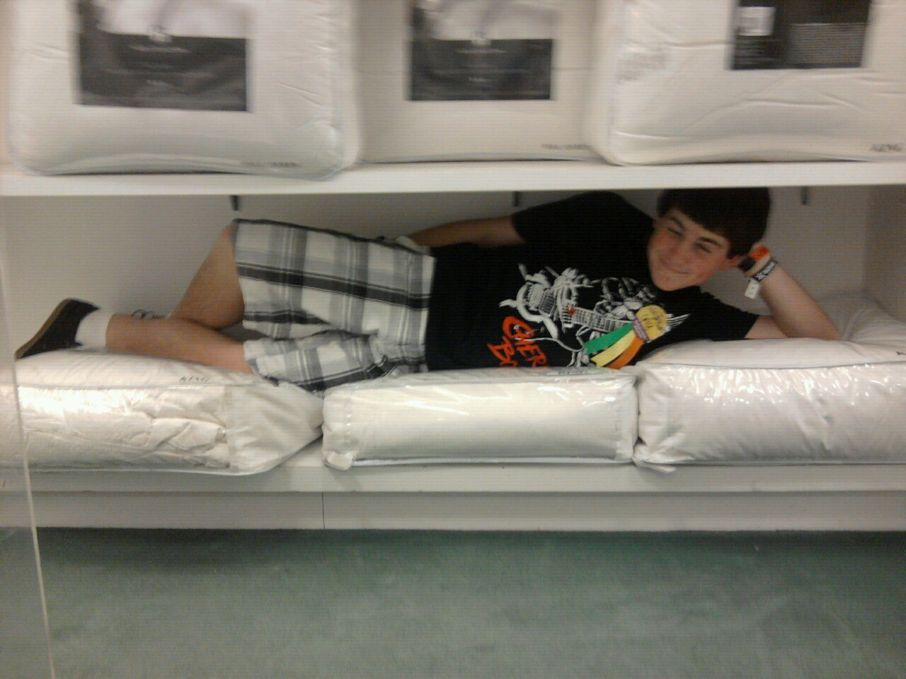 Greg doing his sexy poses at macy's