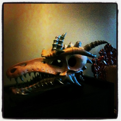 Dragon skull. #art #iphoneonly  (Taken with Instagram)