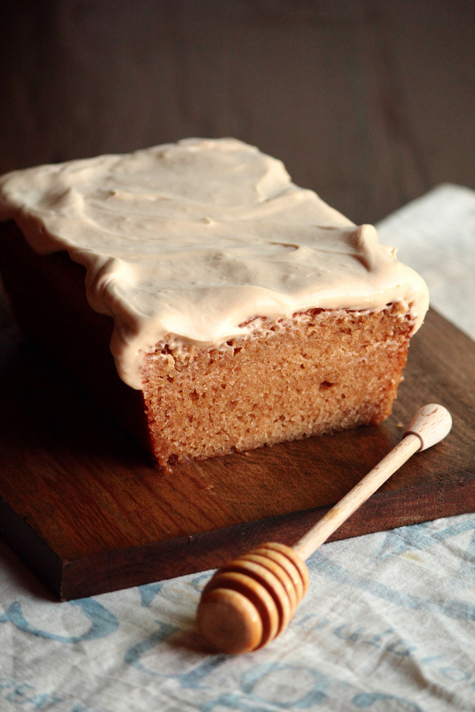 Honey Wheat Cake with Cream Cheese Icing (via Pastry Affair)