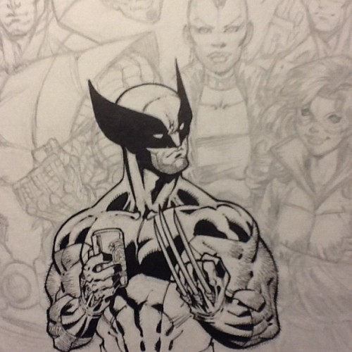 Taking this sketch to inks. #wolverine #xmen  (Taken with Instagram)