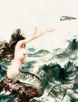 vintagegal:  La Vie Parisienne mermaid illustrations c. 1910's-1920's