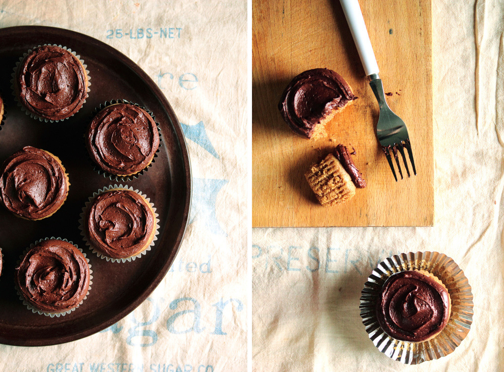 Almond Butter Cupcakes with Mocha Buttercream (via Pastry Affair)