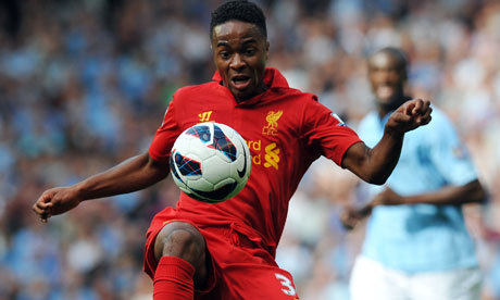Fearless Raheem Sterling shows Liverpool the face of their future | Richard Williams | Football | The Guardian Joe Allen, Seb Coates, Luis Suarez, and Fabio Borini were big bright spots for the Reds today, but Raheem Sterling is the dude every Liverpool fan wants to see. He merited a starting spot after his work against Hearts in the Europa League on Thursday and already looks a brighter, smarter option on the left than Stewart Downing has in over a year.