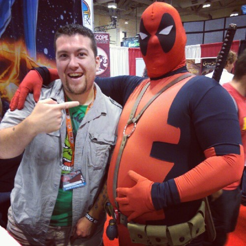 Me and Chubby #Deadpool. This guy is pretty great. #FanExpoCan #cosplay  (Taken with Instagram)