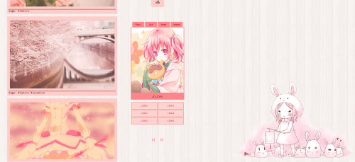 a—themes:  [THEME #2 - Sugar]   preview | code   Features: 500/400 size posts Fading Images Infinite Scrolling Sidebar/Portrait Images Hover Description On Sidebar Image Hover Perma A Second Background ( I highly suggest you to use one with a transparent background ) Music Player 6 Custom Links Show Captions/Tags Please LIKE or REBLOG if you are going to use.Best viewed in Chrome.