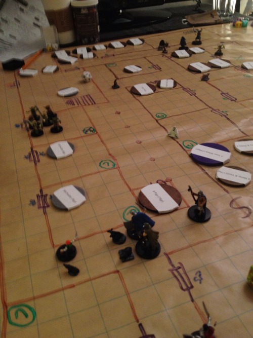 As the attacks came, the players (this time defending a dungeon rather than being the delvers) often kept their party split and people at their posts, despite the alarm being raised, because they saw the group on the scene often able to handle an attack themselves, and it turned out more important to keep areas defended than to focus everything on every potential threat…. Even if this meant they might lose a group of defenders.   So, 'never split the party' ended up totally discarded, and their strategy became very similar to how dungeon monsters are often run.