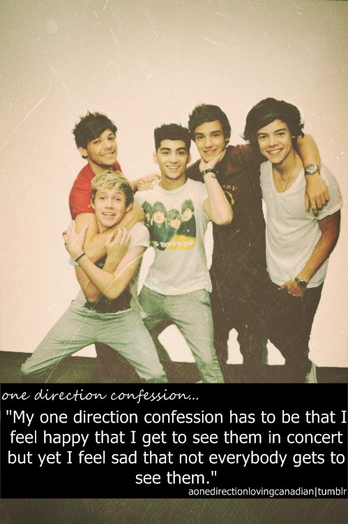 Tell me your one direction confession here