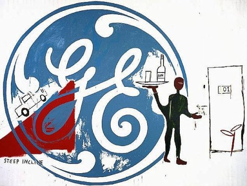 General Electric with Waiter, Jean-Michel Basquiat & Andy Warhol, 1984