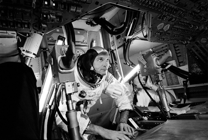 Neil Armstrong, August 5th 1930 - August 25th 2012 I have already mentioned that the 1969 moon landing is possibly my earliest memory. My Dad and I watched the events unfold on a black and white television while the rest of the household went about their daily routine. It was a day of wonder for this particular 4 year old. Even at that tender age I think I knew that something special was happening. I knew nothing about these three adventurers yet they would forever change the way in which I would look at the moon, our planet and the universe that we inhabit. Thanks to three intrepid explorers; Neil Armstron, Edwin 'Buzz' Aldrin and Michael Collins. Article No.185
