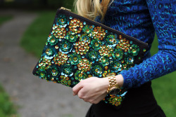 sequin clutch (ASOS) via fashionsquad