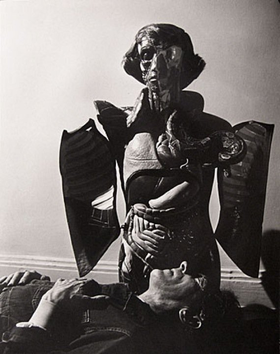 inneroptics:  Philippe Halsman -Jean Cocteau (with Anatomy Model)