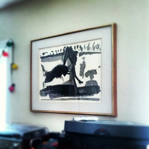 Why yes, that is a Picasso hung on my wall. (Taken with Instagram)