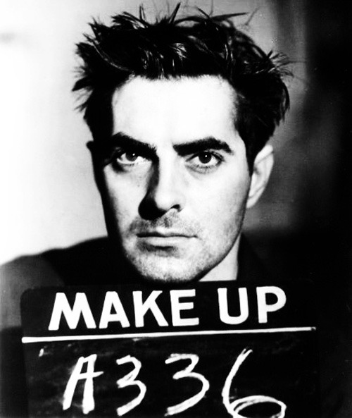 "Make-up test for Tyrone Power in ""Nightmare Alley (1947)"