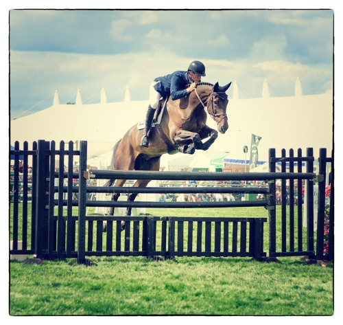 Jumping clear at the Edenbridge & Oxted Show 2012