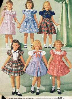 Fashions for girls - Sears catalog, 1948