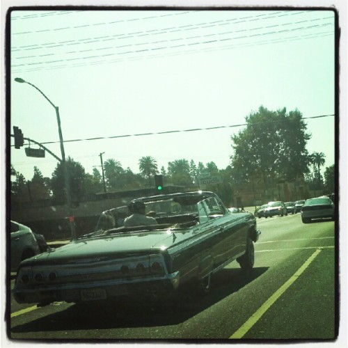 #lowrider ! #impala #musclecar #hydraulics #whittier #instesia #car #automobile #street (Taken with Instagram)