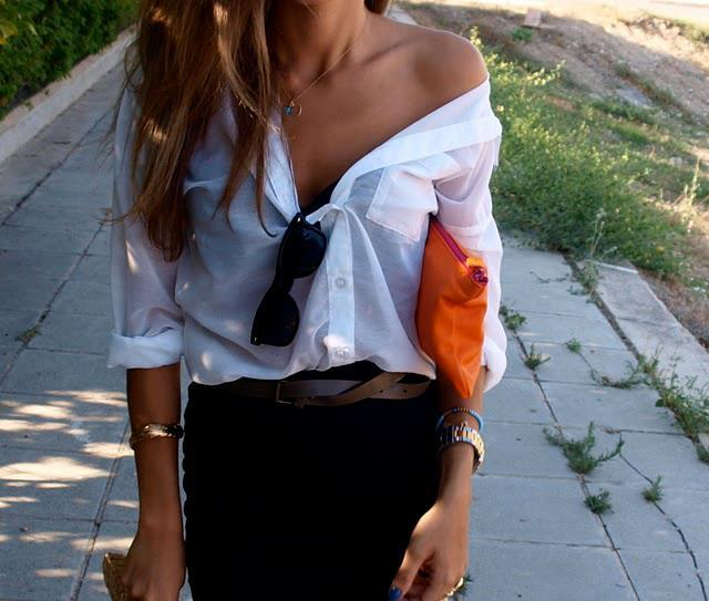 White Button Down Shirt -   more: in http://www.facebook.com/OFFmagazine and http://offmag.blogspot.com.es/ and https://twitter.com/offmagacine and http://pinterest.com/offmagazine/