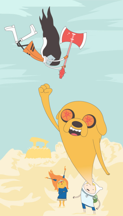 vectorbelly:  Adventure Time/FLCL mashup   Freakin awesome!